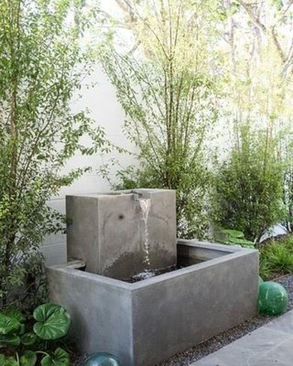 30 Stylish Outdoor Water Walls Ideas For Backyard Fountains Backyard Garden Fountains Outdoor Concrete Fountains Modern backyard water fountain