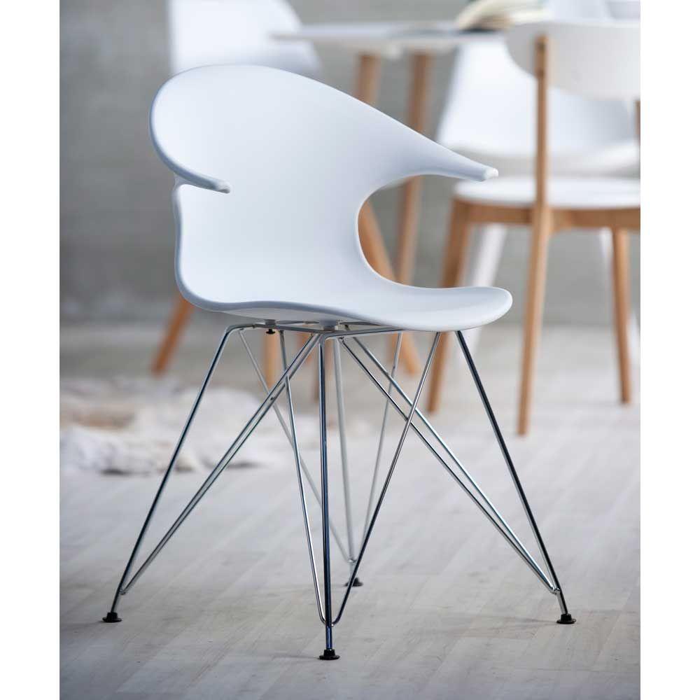 Esszimmerstuhl aus Kunststoff Weiß (4er Set) Jetzt