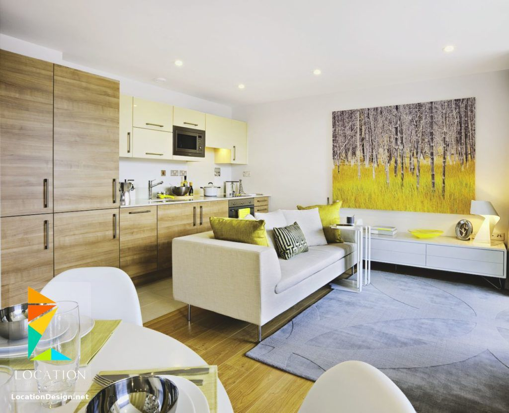 كولكشن مطابخ مفتوحه على الصاله للشقق الحديثة لوكشين ديزين نت Living Room And Kitchen Design Open Plan Kitchen Living Room Open Living Room