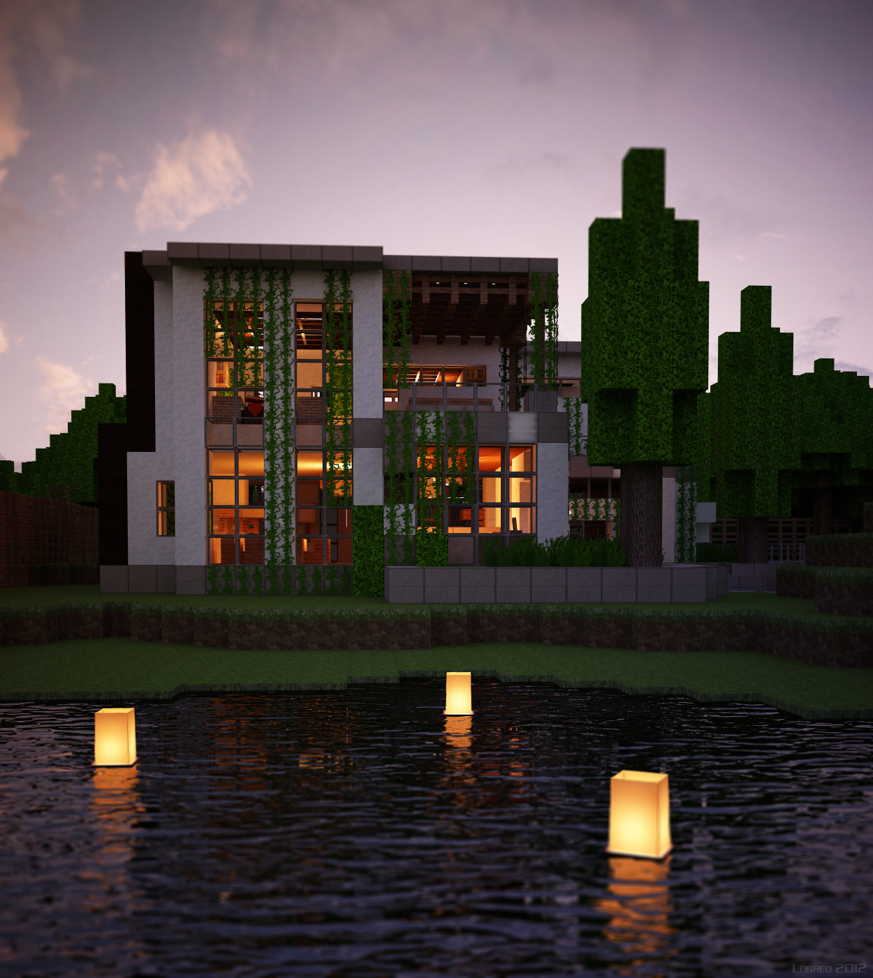 House Ideas Guide For Minecraft: Modern House! I Wish I Could Have This In Real Life
