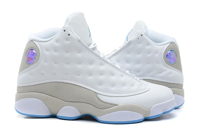 ed2fd1b5a828fe Michael Jordan Shoes Xiii 13 Men Size White neutral Grey University Blue