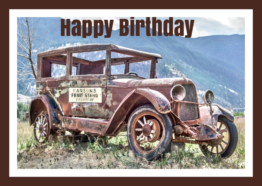 FREE Birthday Cars eCards Old cars, Buy tires, Cars near me