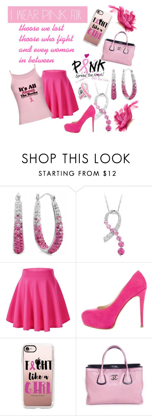 """bca"" by amanda-p-s ❤ liked on Polyvore featuring Amanda Rose Collection, Brian Atwood, Casetify, Chanel, Cufflinks, Inc. and IWearPinkFor"