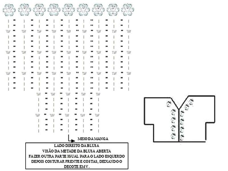 blusa-blanca-de-crochet-con-mangas-murcielago-6 | Tejidos ...