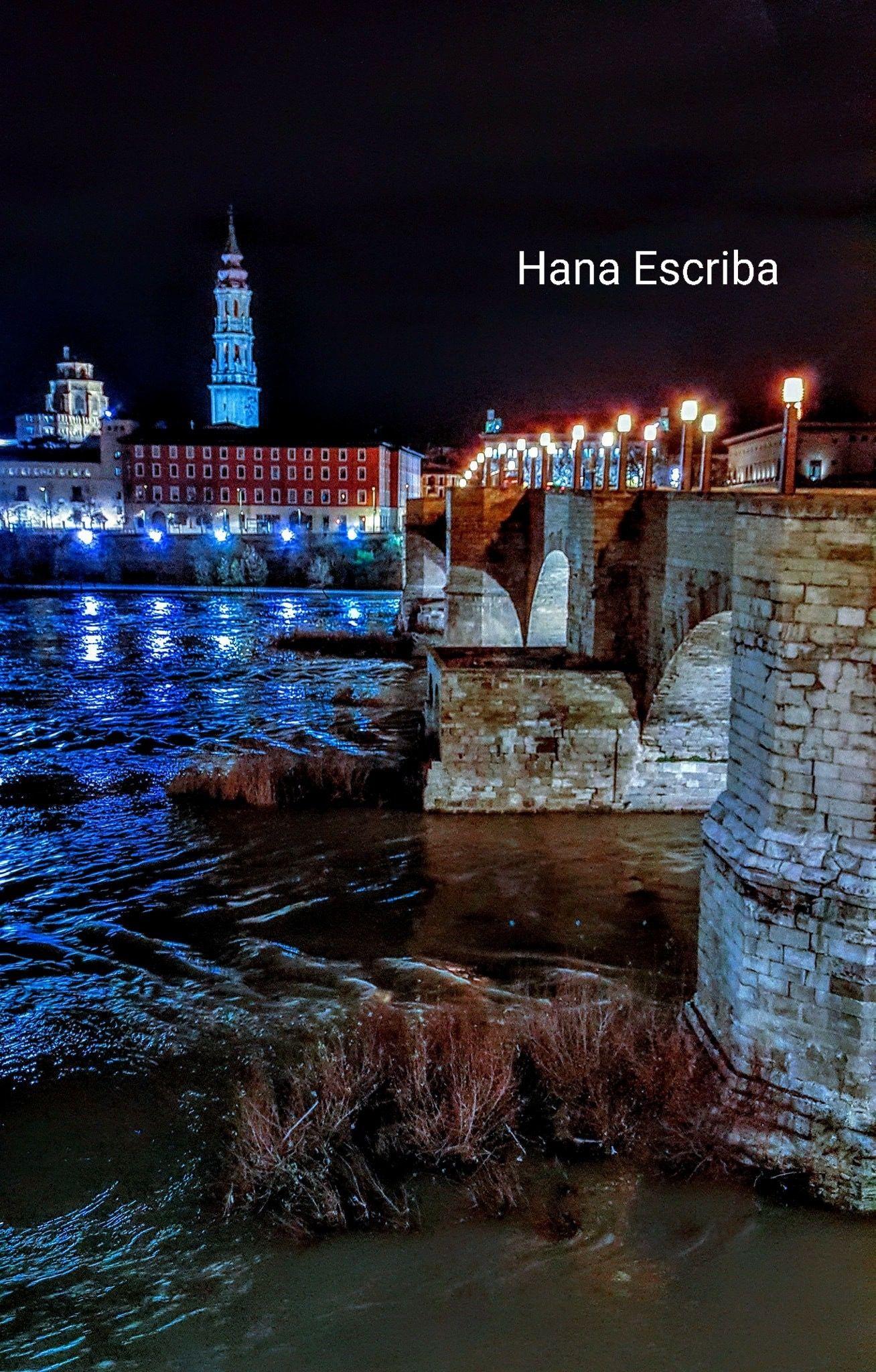 Catedral De La Seo En Zaragoza Desde La Otra Orilla Del Ebro  # Muebles Mezquita Alcanices