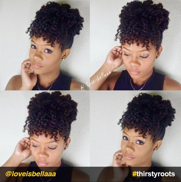 13 Natural Hair Updo Hairstyles You Can Create ...