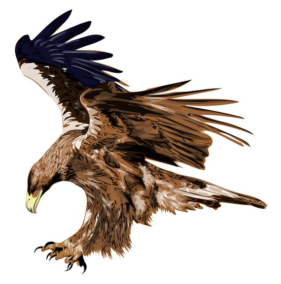Golden Eagle Stylized Art Graphic Design Abstract Painting Original Art T Shirt Design Styliz Eagle Tattoo Eagle Phoenix Tattoo Design