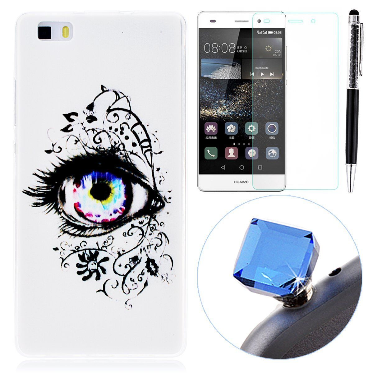 Grandever Silikon Tpu Hulle Fur Huawei P8 Lite Handy Tasche Case