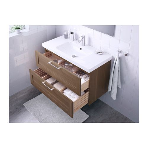 Hall Bathroom - GODMORGON / ODENSVIK Sink cabinet with 2 drawers ...