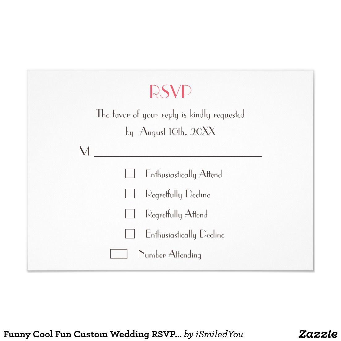 Pin By Anisha On Wedding Invites Simple In 2019: Funny Modern Custom Wedding White RSVP Card Invite
