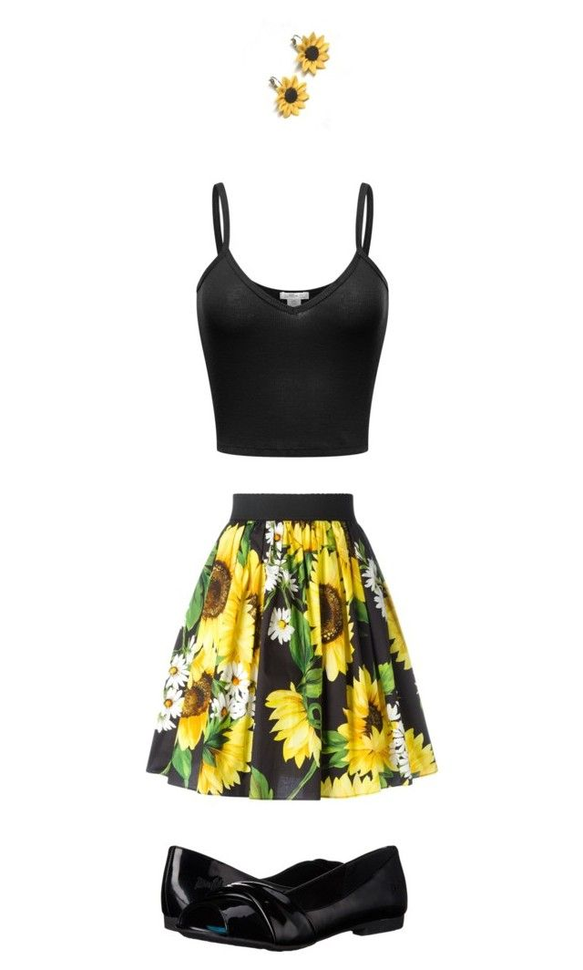 """""""Untitled #1379"""" by tigergirl121 on Polyvore featuring Dolce&Gabbana, Blowfish and Summer and Silver"""