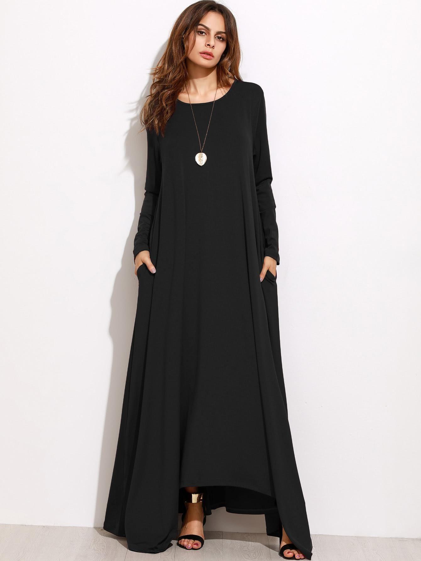 Romwe romwe shift full length dress adorewe romwe
