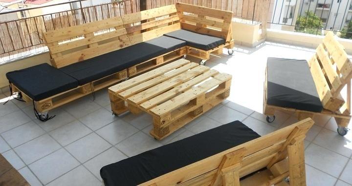 Muebles de palets fabricacion muebles palets muebles con for Fabricacion de muebles de palets de madera