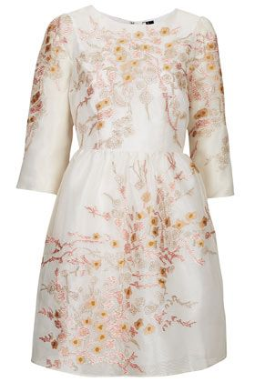 7805880a403a Topshop Organza Embroidered Dress. I'm still in love with the idea of a  floral print on ivory or white as unique dress for a bride.