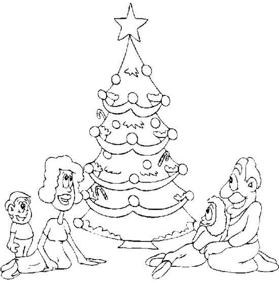 Christmas Eve Family Coloring Page | Tree coloring page ...