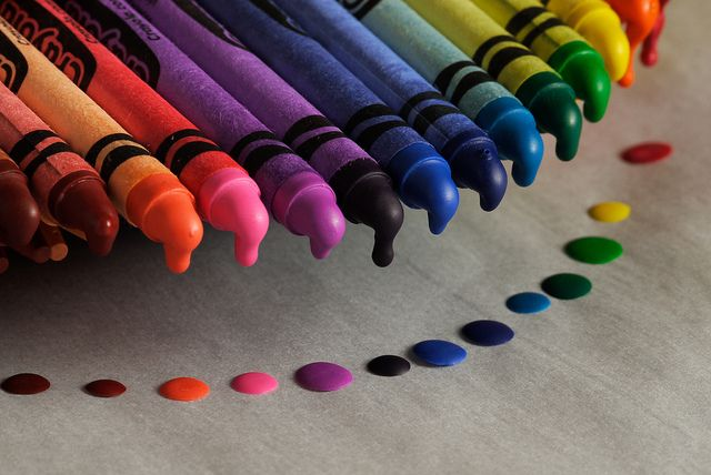 Crayons and art