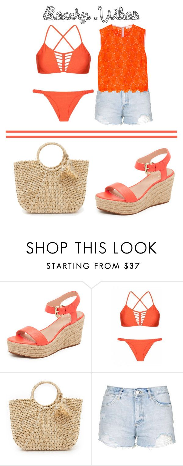 """Beachy Vibes ☀️"" by kirsty-mckenzie44 ❤ liked on Polyvore featuring Kate Spade, Luli Fama, Hat Attack, Topshop and A.L.C."