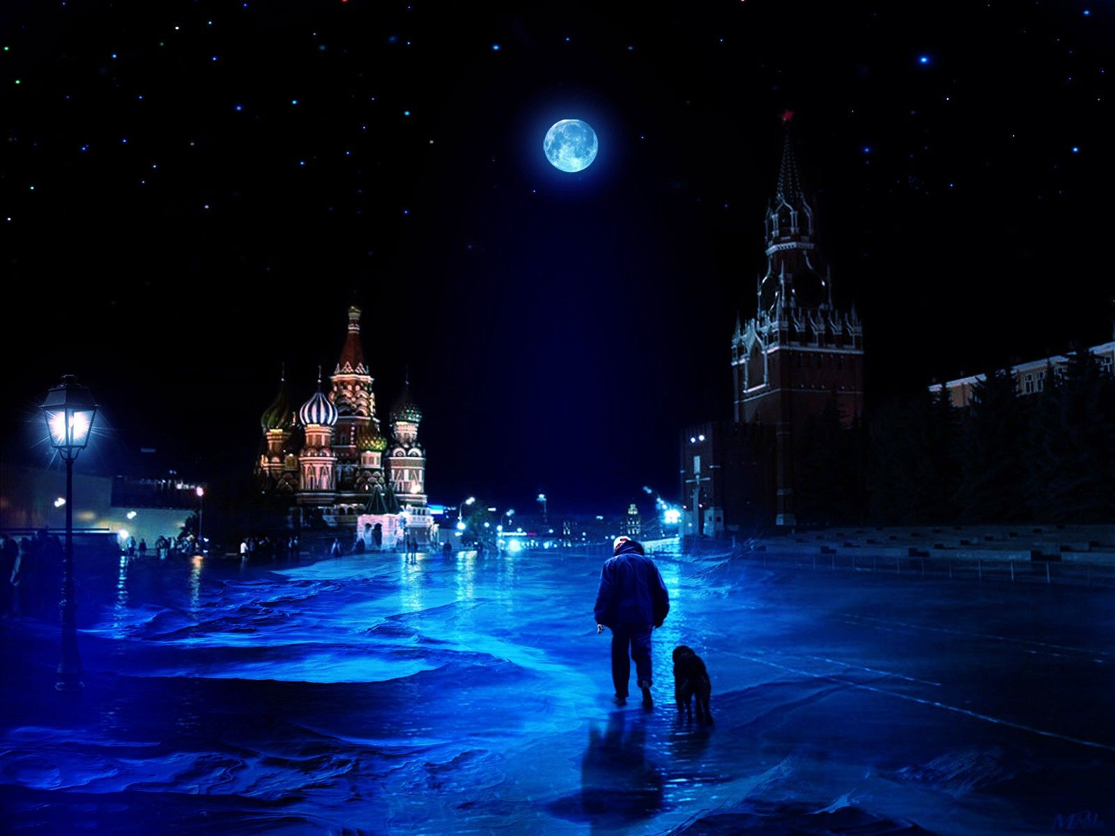 Night Life At Red Square Moscow Russia Wallpaper 32779 Night Life Russia Desktop Wallpaper