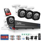 SANNCE 1080N 8CH HDMI DVR Outdoor Home Video 1500TVL Security Camera System 1TB