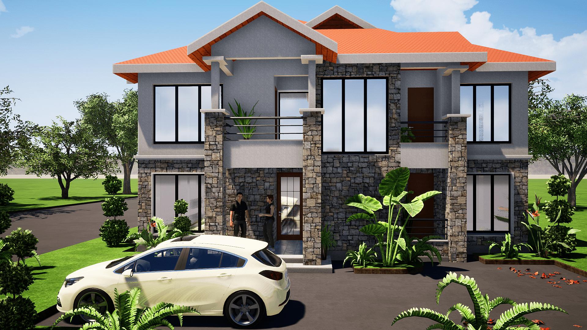 4 Bedroom Maisonette House Plan Muthurwa Com In 2020 House Plans Maisonette 4 Bedroom House Plans