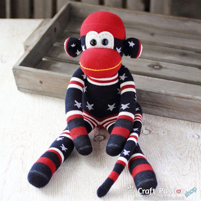 Mabel Sock Monkey | Sock Creatures | Pinterest