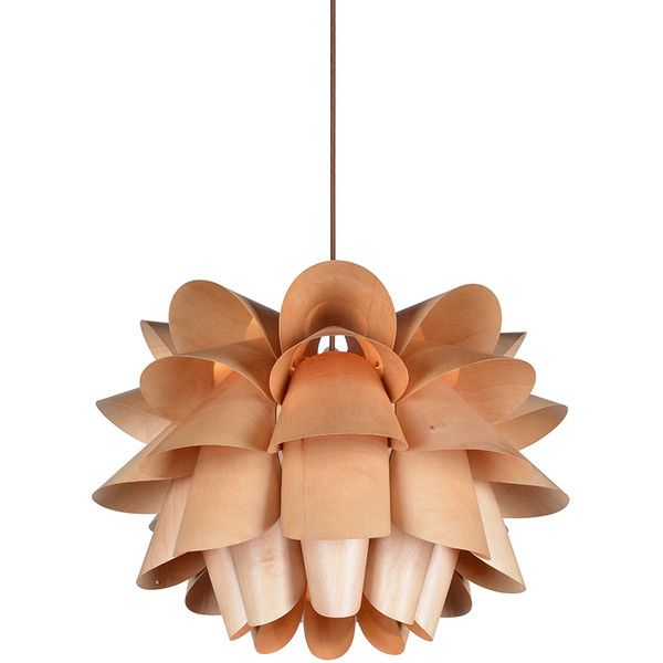 Modern style floral wooden pendant light 218 ❤ liked on polyvore featuring home