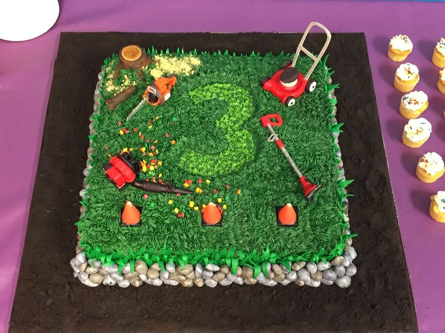 Landscaping Tools Birthday Cake This Is The Cake That I Made For My