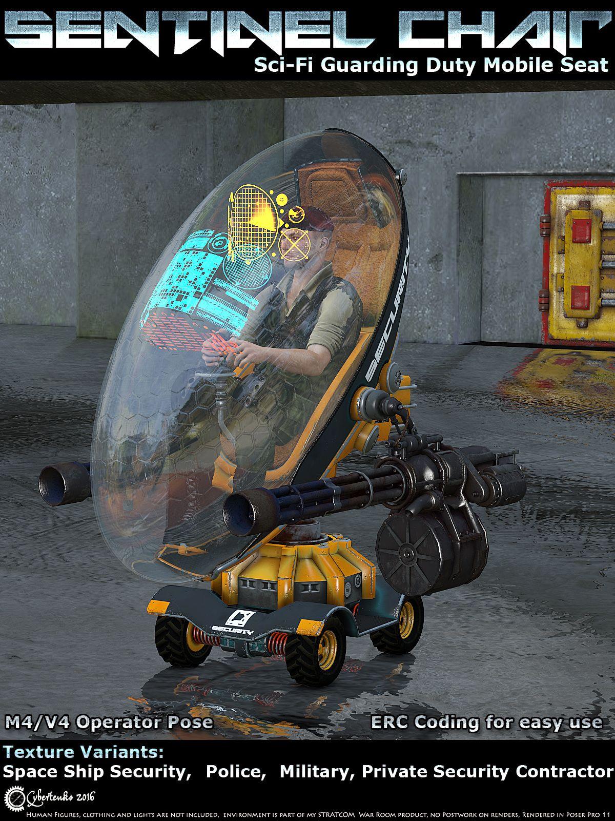 Sentinel Chair | Daz Poser | Chair