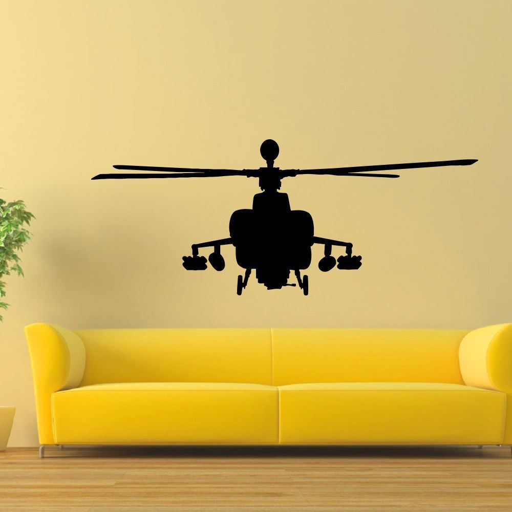 Apache Helicopter Army Air Force Vinyl Wall Art Decal Sticker | Army ...