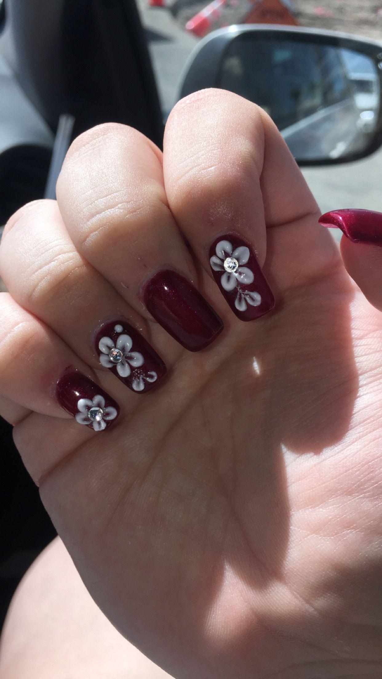 Burgundy wedding nails | Wedding nails, Nails, Burgundy ...