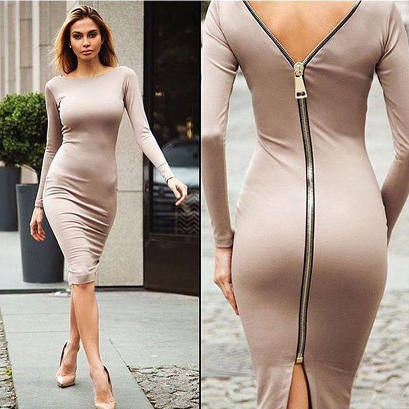 c3208344e87b5 Long Sleeve Backless Bandage Dress | dresses | Dresses, Long sleeve ...