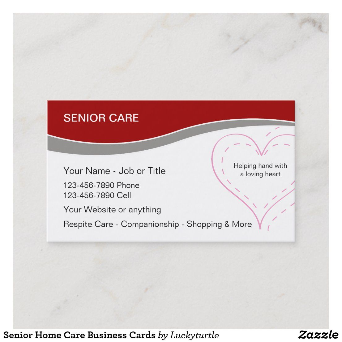 Senior Home Care Business Cards Zazzle Com Senior Home Care Home Care Home Health Care