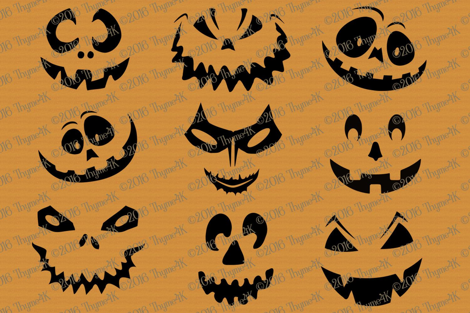 Svg Halloween Pumpkin Faces Mix And Match Includes Svg Dxf Amp Eps Formats Use As Faces