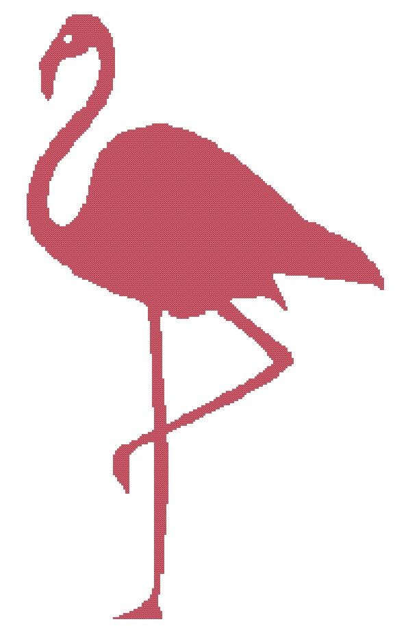 Pink Flamingo - a Counted Cross Stitch Pattern | Flamingoes | Pinterest