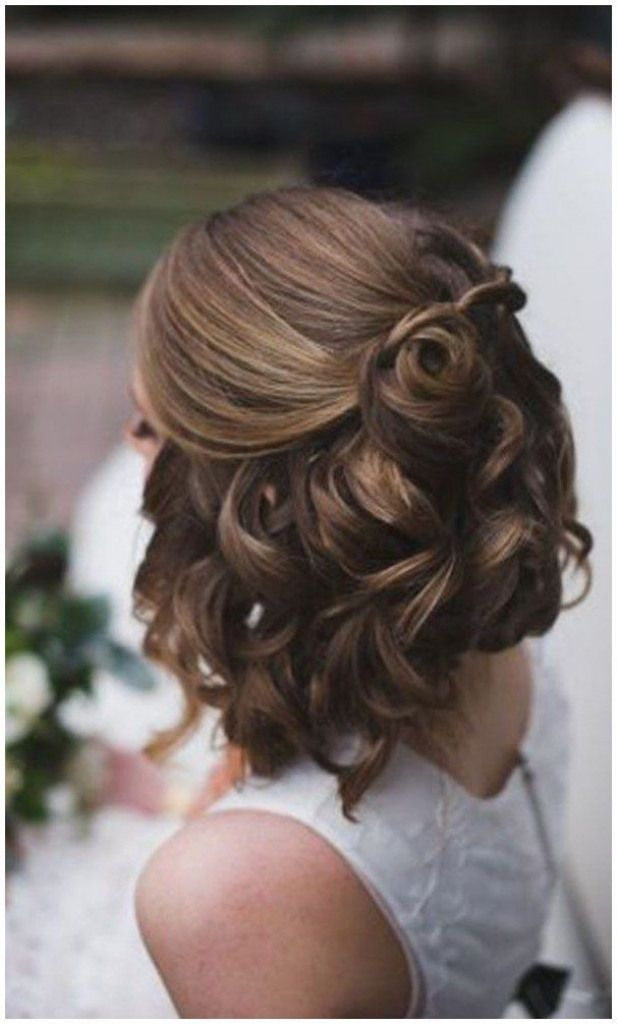 Hair Shorthair Haircut Wedding Hairstyles For Short Hair Half Up Half Down Wedding Ideas Click Now To Short Wedding Hair Thick Hair Styles Short Hair Updo