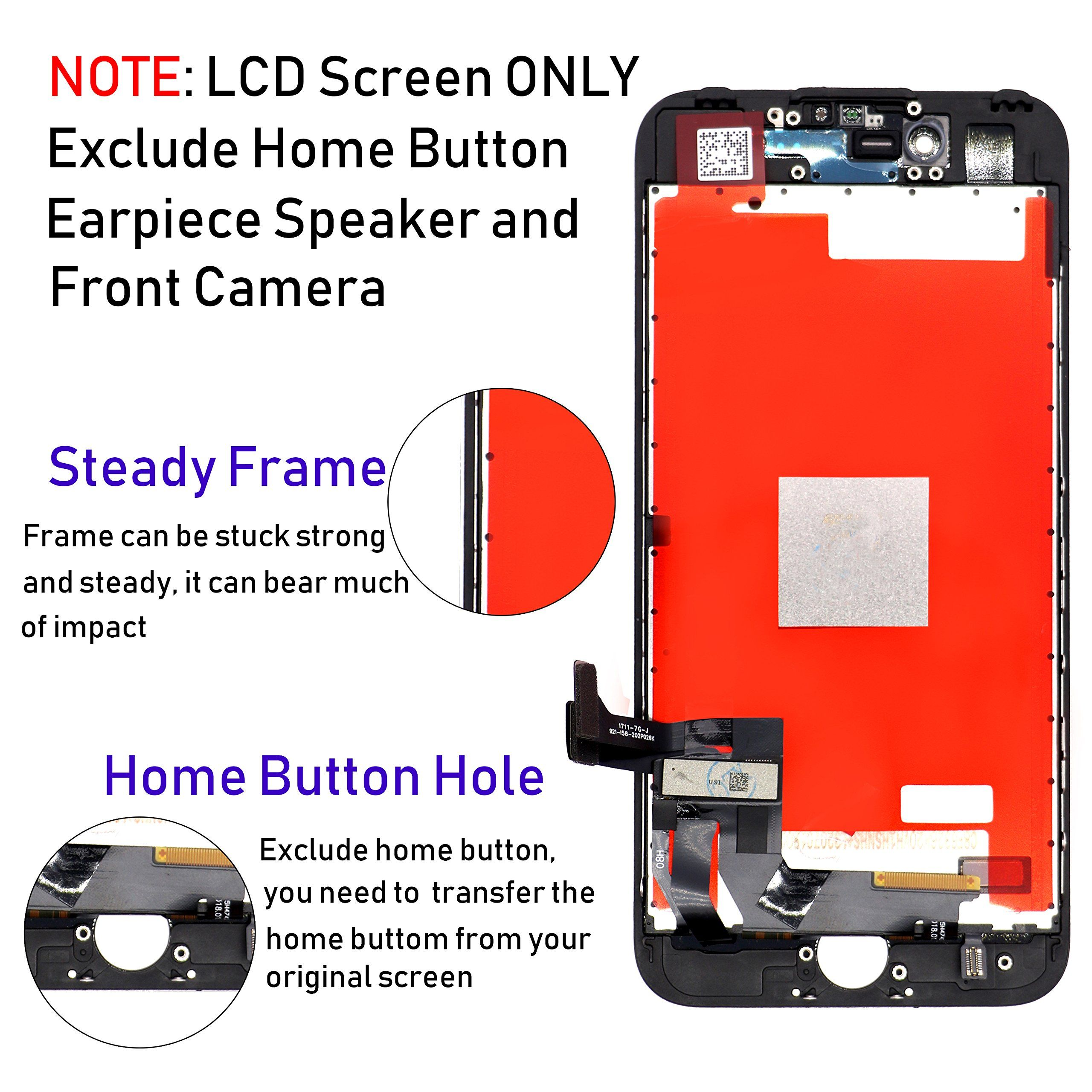 For Iphone 7 Screen Replacement Black Arndox 4 7 Inch Lcd 3d Touch Screen Display Digitizer Assembly Kit With Repai Screen Replacement Lcd Touch Screen Display