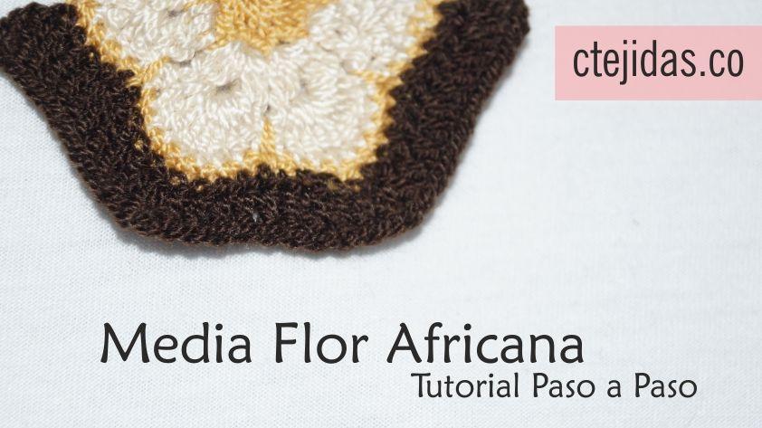 Media Flor Africana a Crochet - Paso a Paso | Tutoriales | Pinterest ...