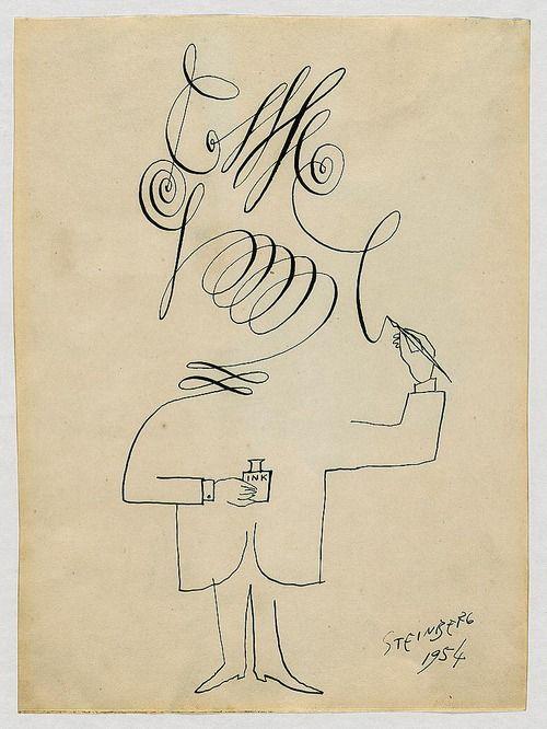 Saul Steinberg, Self portrait