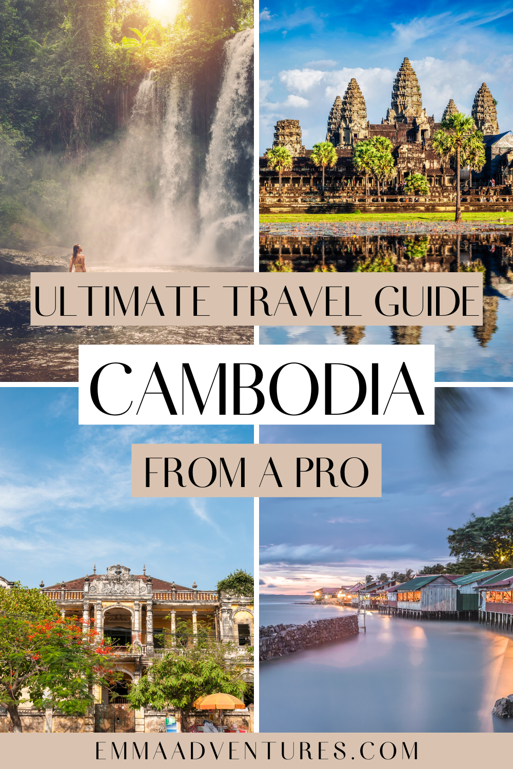 The ultimate guide to travel in Cambodia! Here's everything you need to know about travel in Cambodia with tips from a pro. Where to go in Cambodia, the best things to see and do in Cambodia, plus where to eat, drink and stay! Travel guides to Siem Reap, Angkor Wat, Phnom Penh, Koh Rong and Kampot! Read it now! #cambodia #cambodiatravel #southeastasia