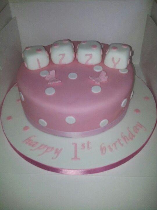 Baby Girls 1st Birthday Cake Birthday Ideas Pinterest Birthday