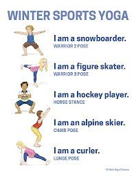 winter olympics yoga printable poster  kids yoga