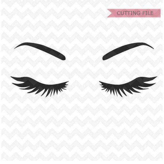 Eyelashes Svg File Eyebrows Svg Instant Download Woman Eyelashes