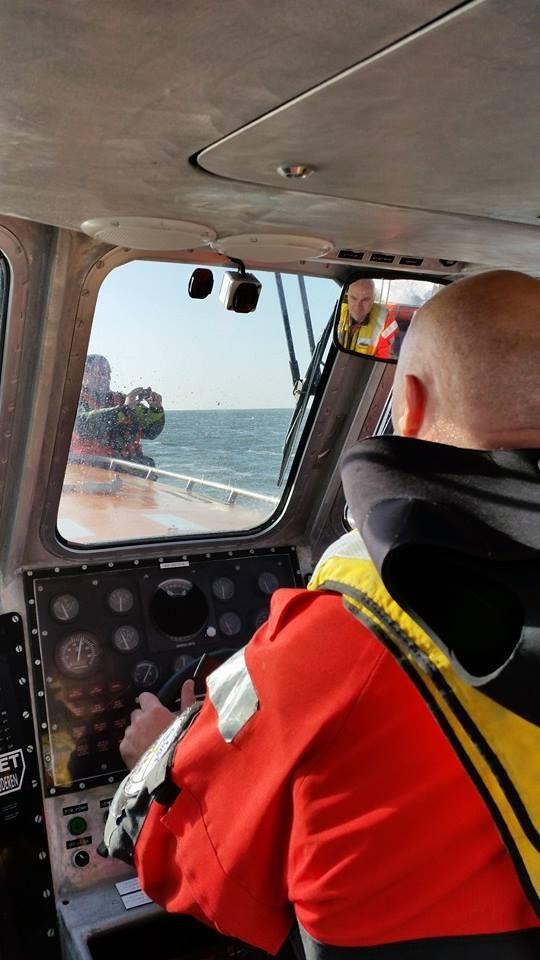 Opstapper Peter heeft vandaag vaartraining gehad in Harlingen. Over 2 weken naar Schotland voor SAR Craft Operations.