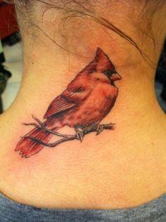 Realistic Cardinal Tattoo