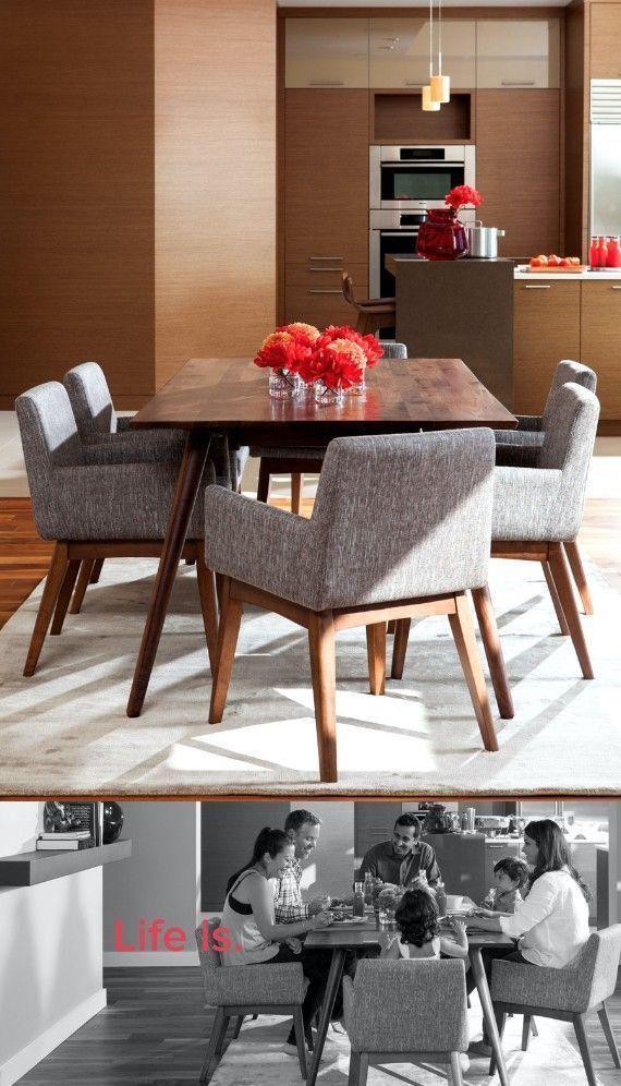 comedor gris y madera #ChairComedores Chair Comedores Pinterest - Comedores De Madera