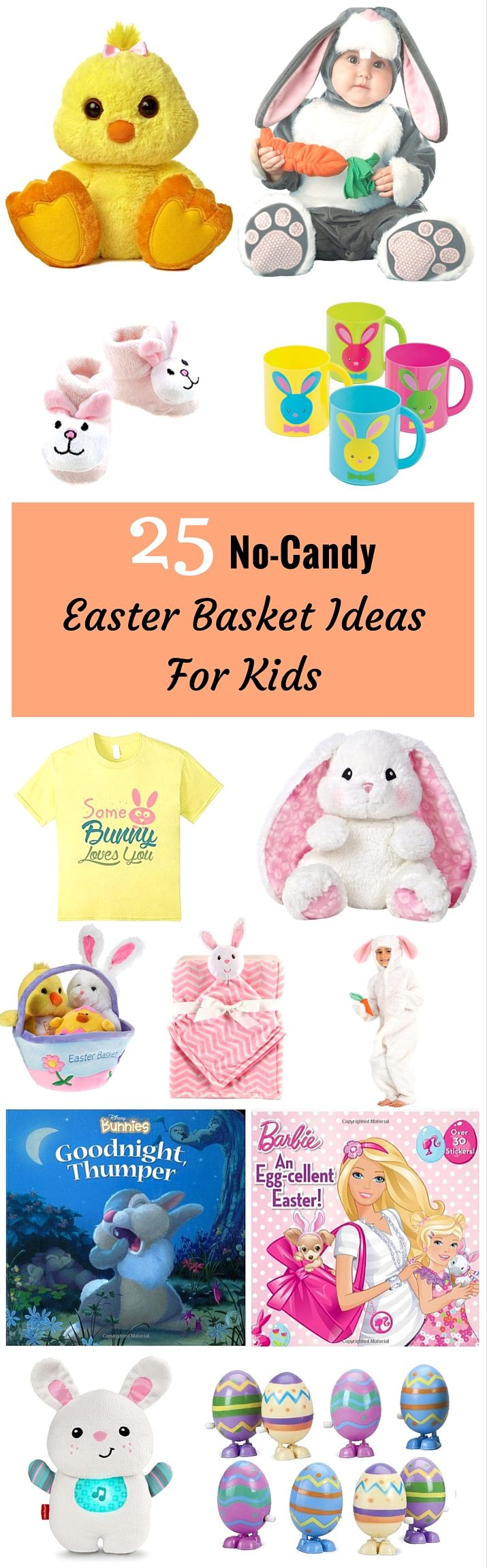 Bring smiles to their faces and giggles of glee by having the Easter Bunny deliver these non candy Easter basket ideas.