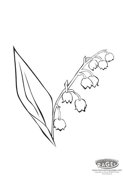 49+ Lily of the valley coloring page download HD