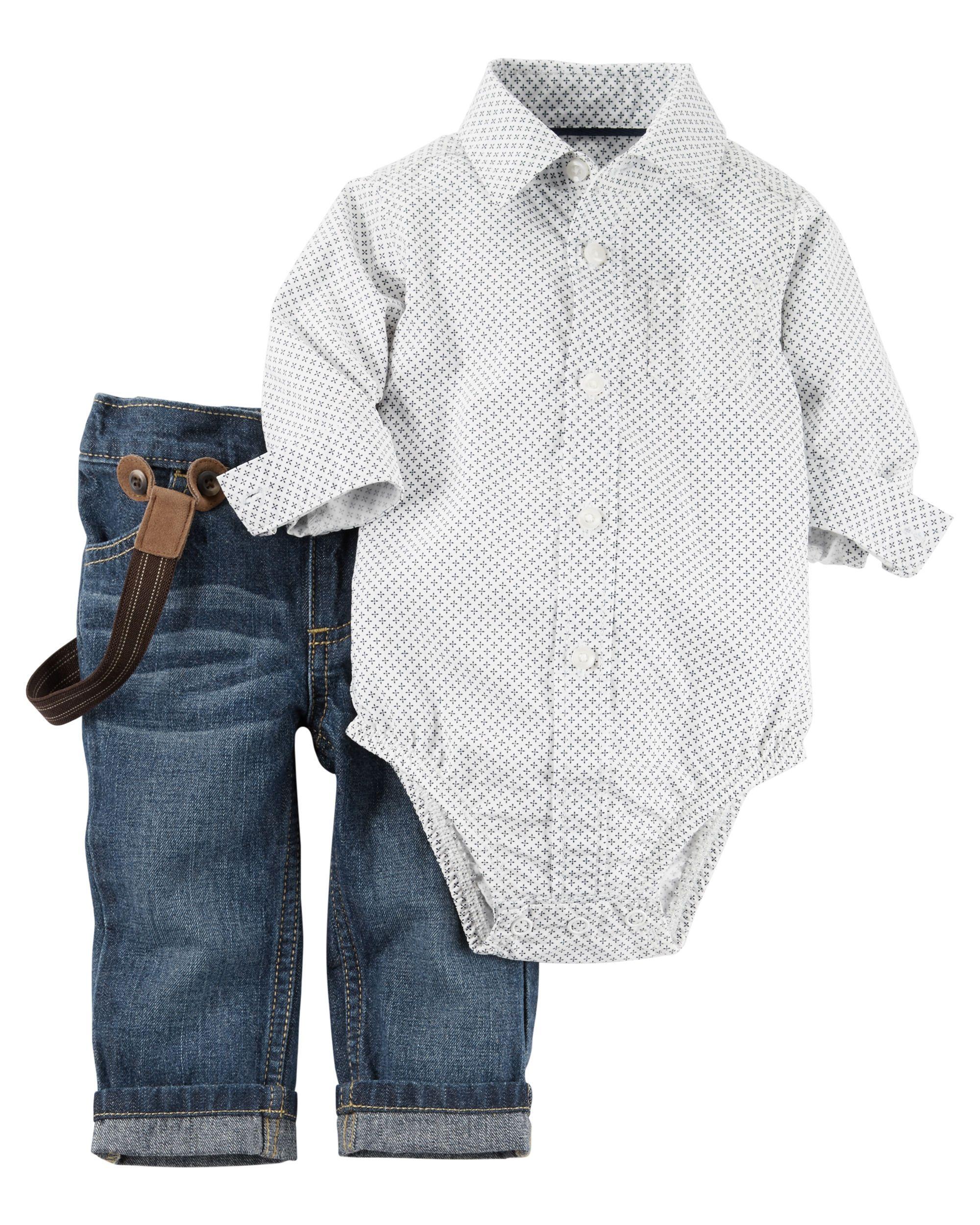 2 Piece Bodysuit Jean Set Babies Babies Clothes And Clothes