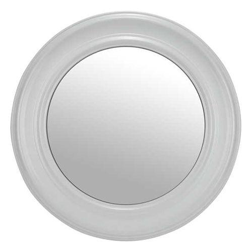 miroir rond   miroir rond avec cadre blanc en plastique