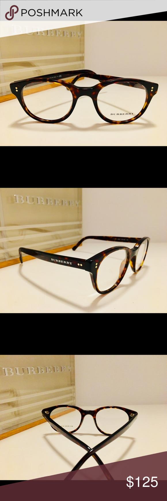 77de6e9a93 Burberry Eyeglasses B2194 Dark Havana Round Size  48-20-145 Unisex Demo Lens  Rx-Able Frame Only (no case) Burberry Accessories Glasses